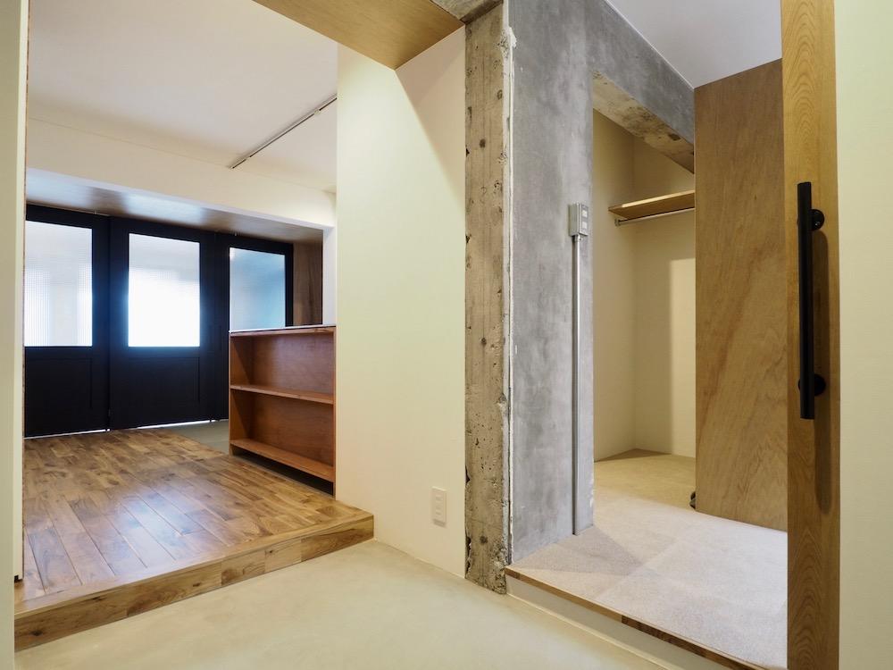 マンションリノベーション,内装工事,リノベ,DIY,大工,施工,工事会社,玄関,廊下